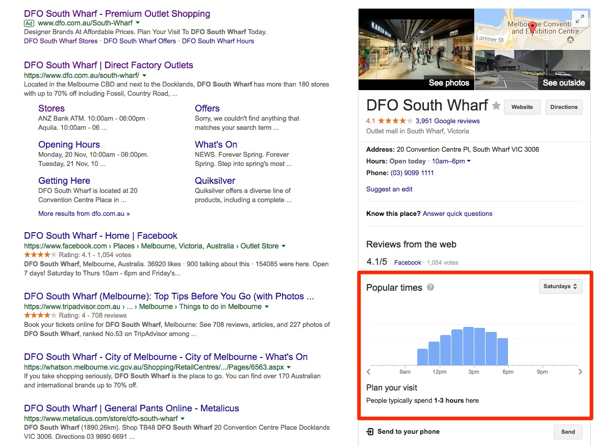 DFO google search